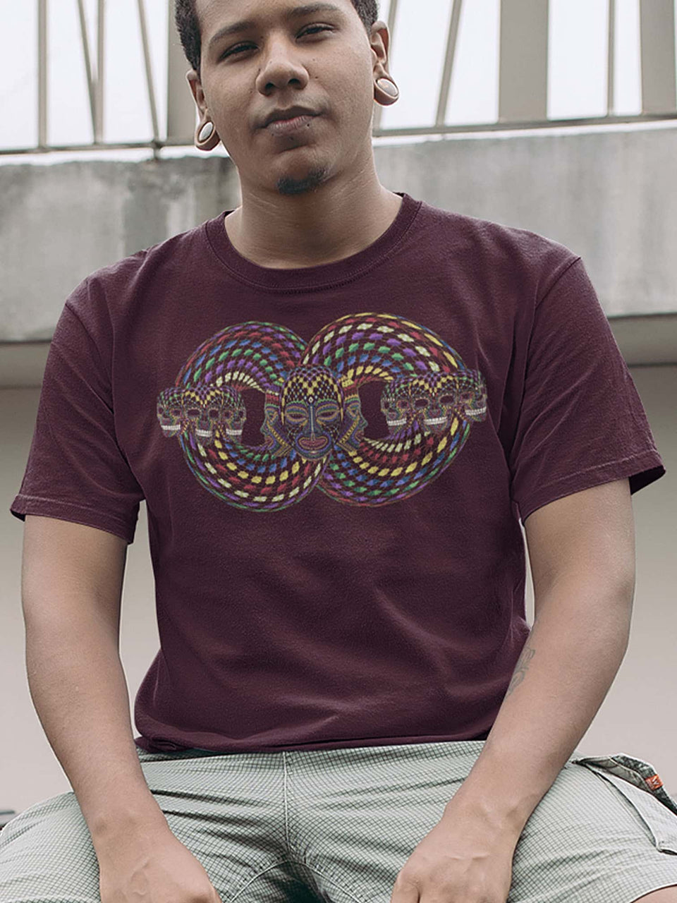 Trinfinity Loop Made To Order Men T-Shirt - Burgundy