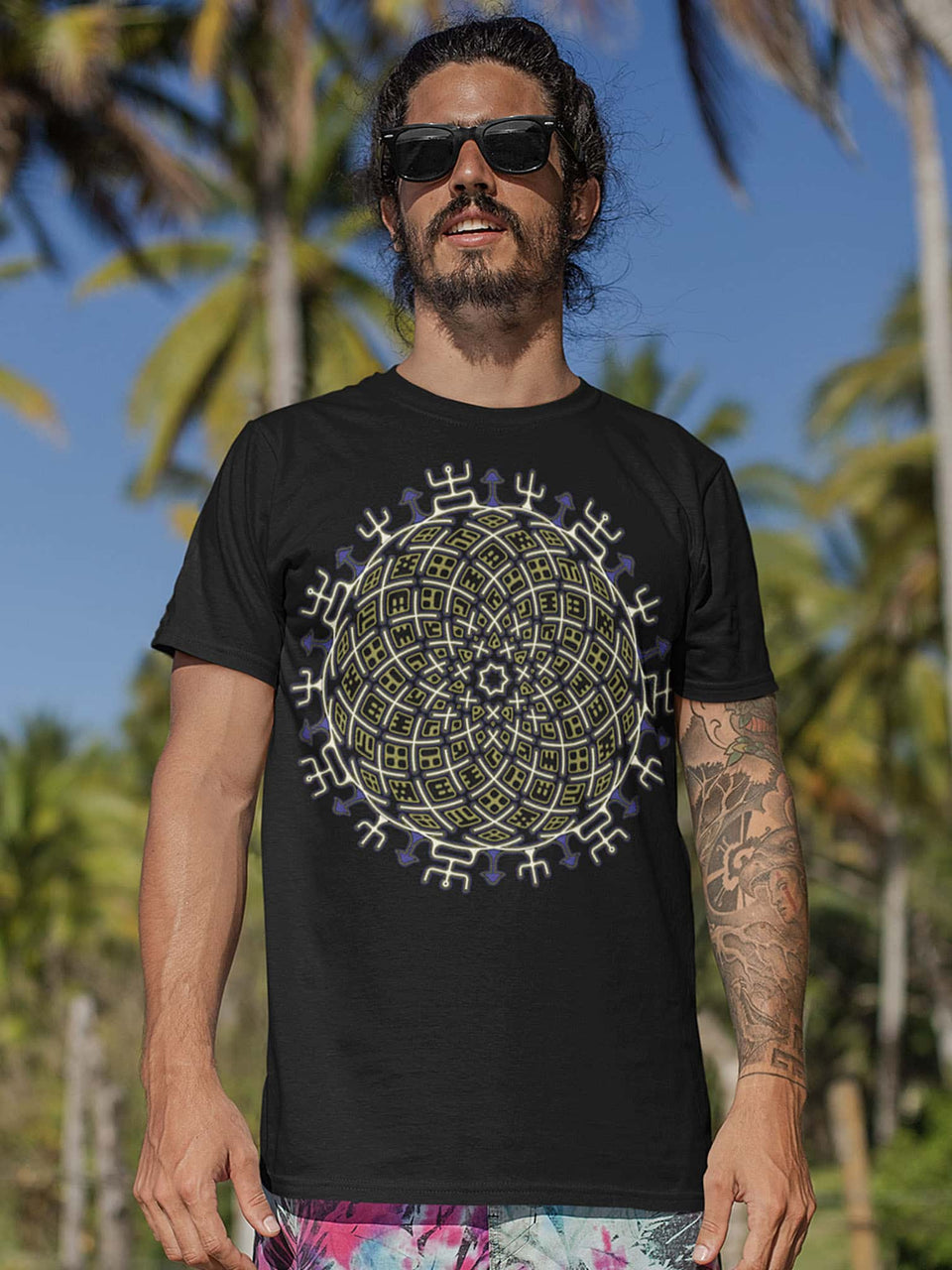 Vortex Cross Made To Order Men T-Shirt - Black