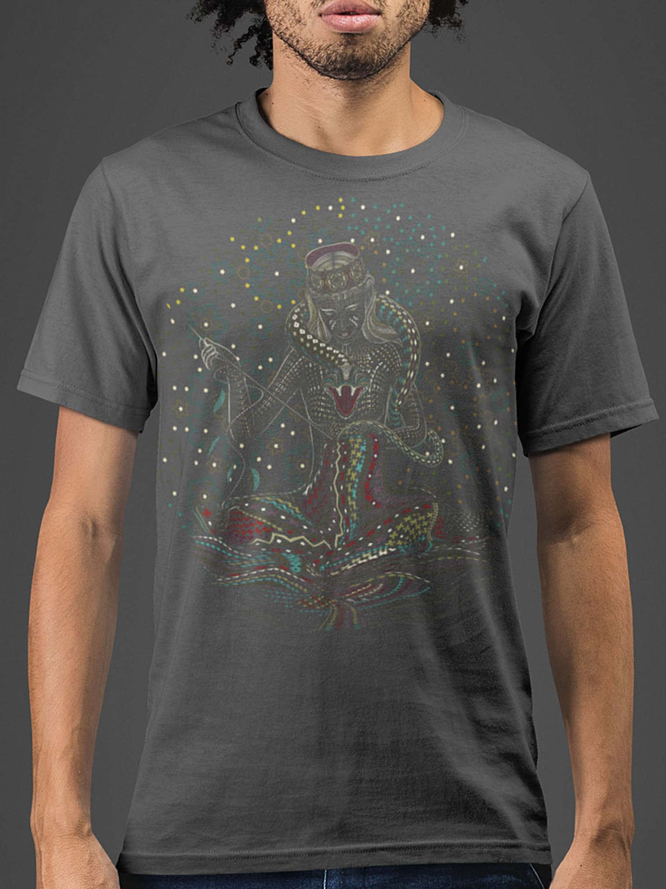 Song Weaving Made To Order Men T-Shirt - Light Charcoal