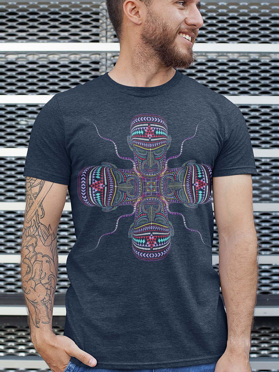 Chango Made To Order Men T-Shirt - Navy Blue