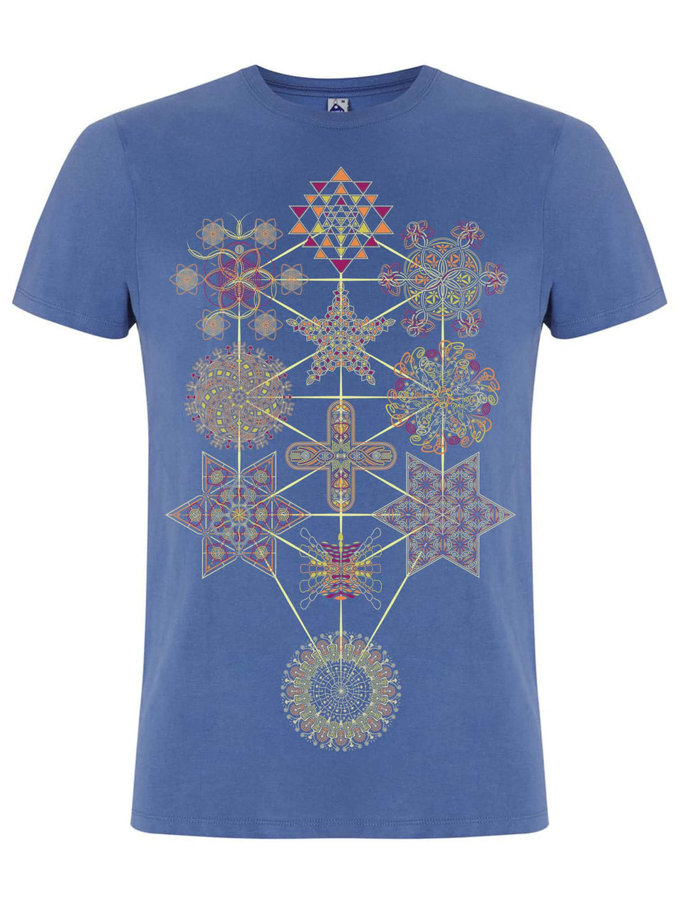Symbol Tree Made To Order Men T-Shirt - Faded Denim