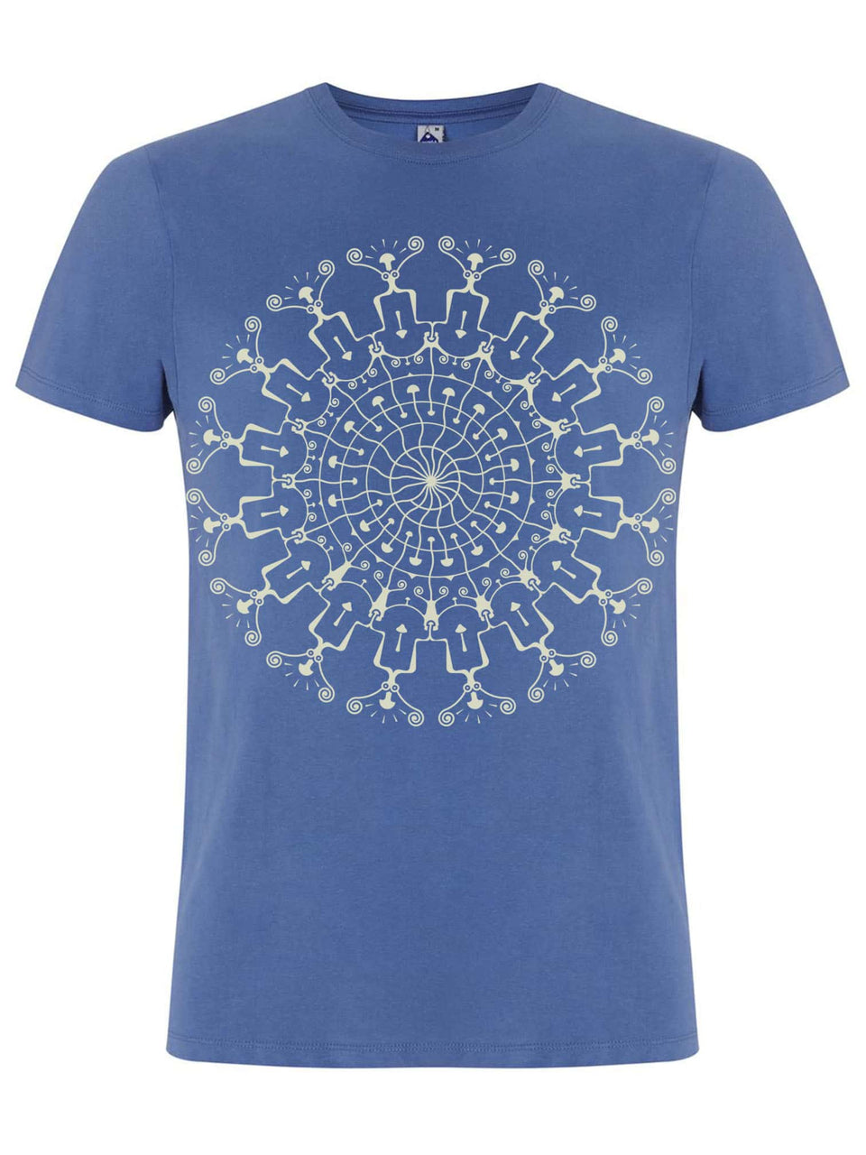 Shrooms Hora Glow Made To Order Men T-Shirt - Faded Denim