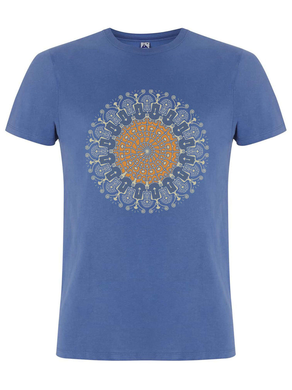 Shrooms Hora Color Made To Order Men T-Shirt - Faded Denim