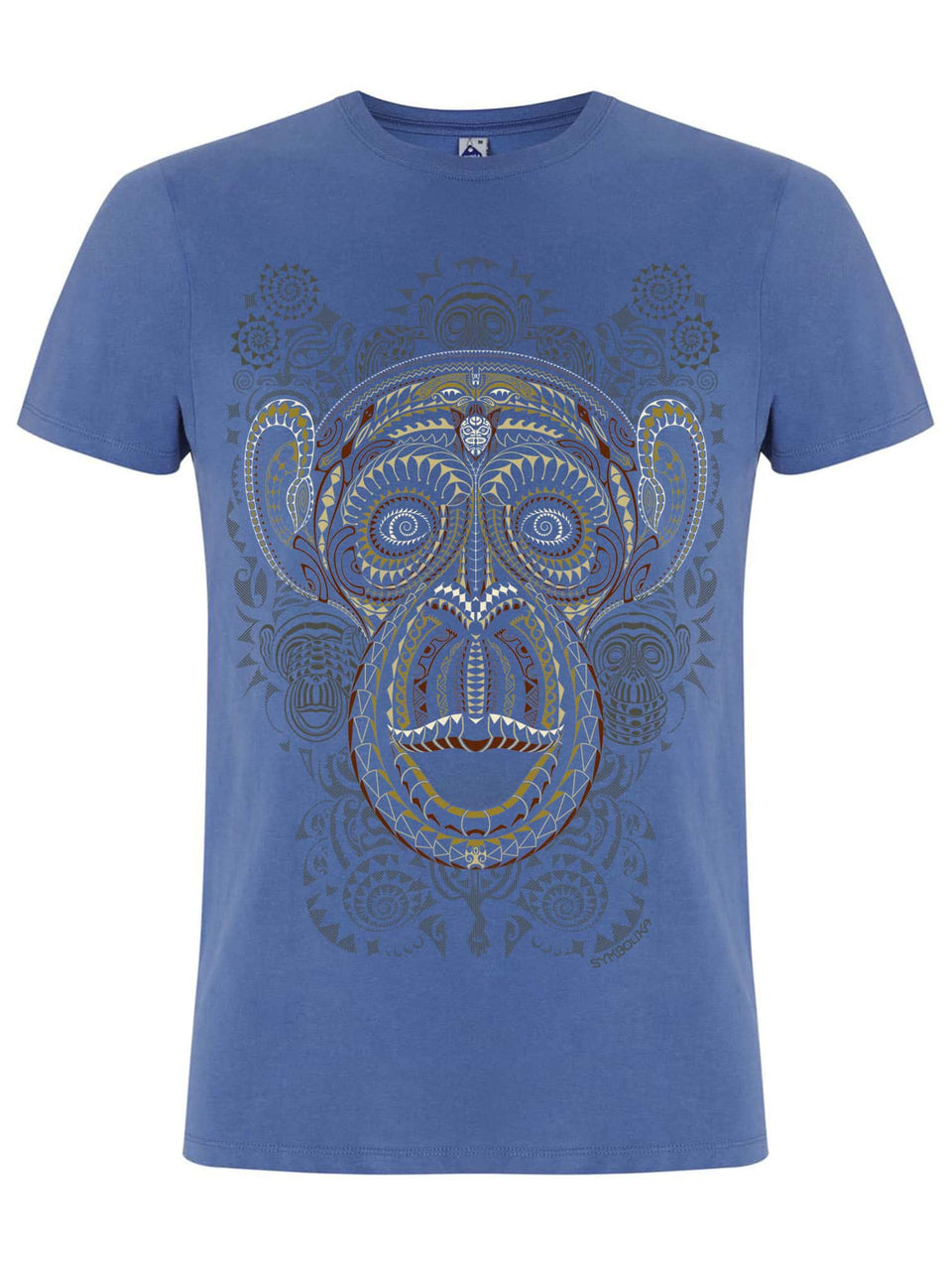 Ta Wise Monkeys  Made To Order Men T-Shirt - Faded Denim