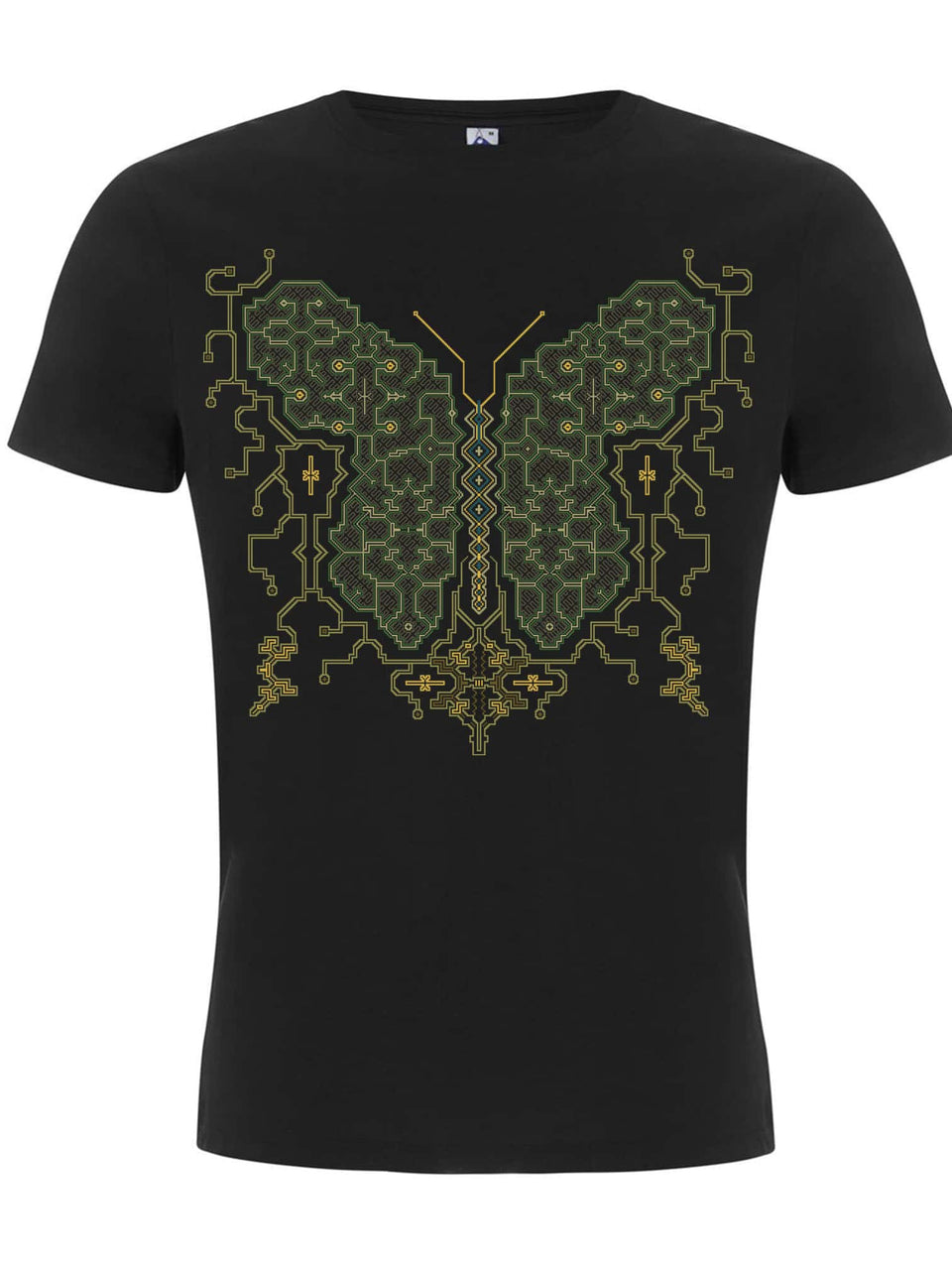 Shipibo Butterfly Made To Order Men T-Shirt - Black