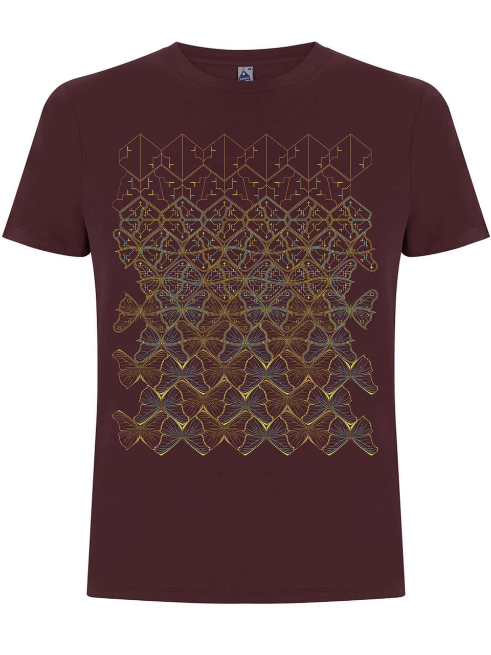 Butterfly Morph Made To Order Men T-Shirt - Burgundy