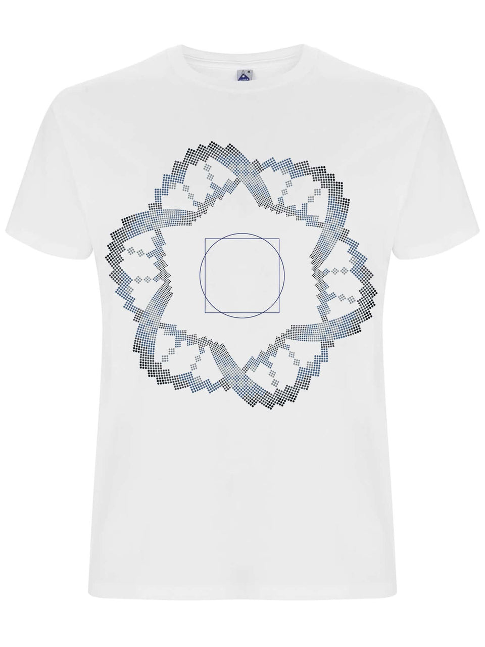 Square in a Circle Made To Order Men T-Shirt - White