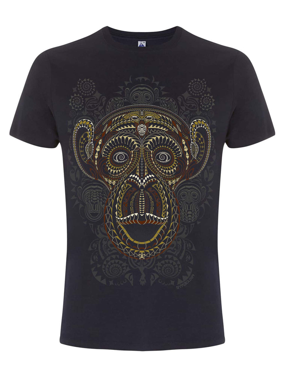 Ta Wise Monkeys  Made To Order Men T-Shirt - Navy Blue