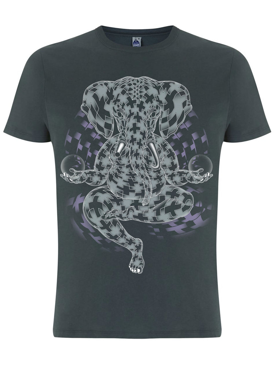 Ganesher Vibration Made To Order Men T-Shirt - Light Charcoal