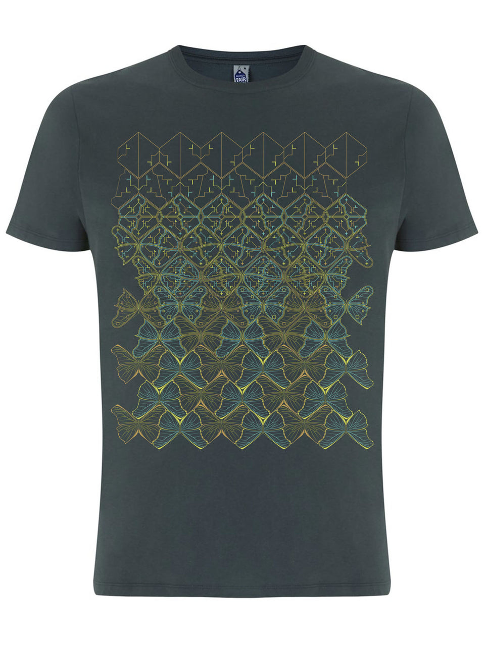 Butterfly Morph Made To Order Men T-Shirt - Light Charcoal