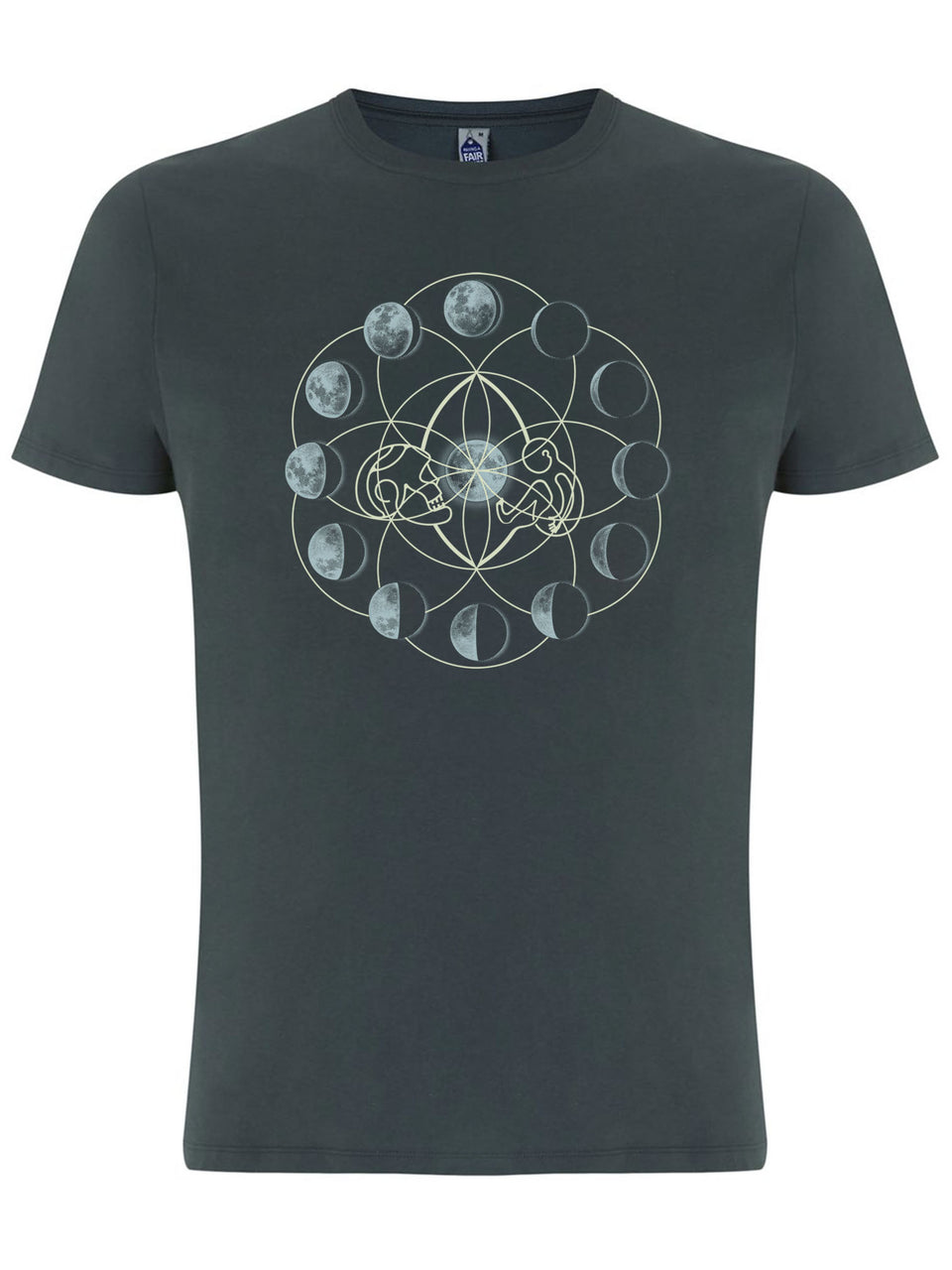 Moon Time Made To Order Men T-Shirt - Light Charcoal