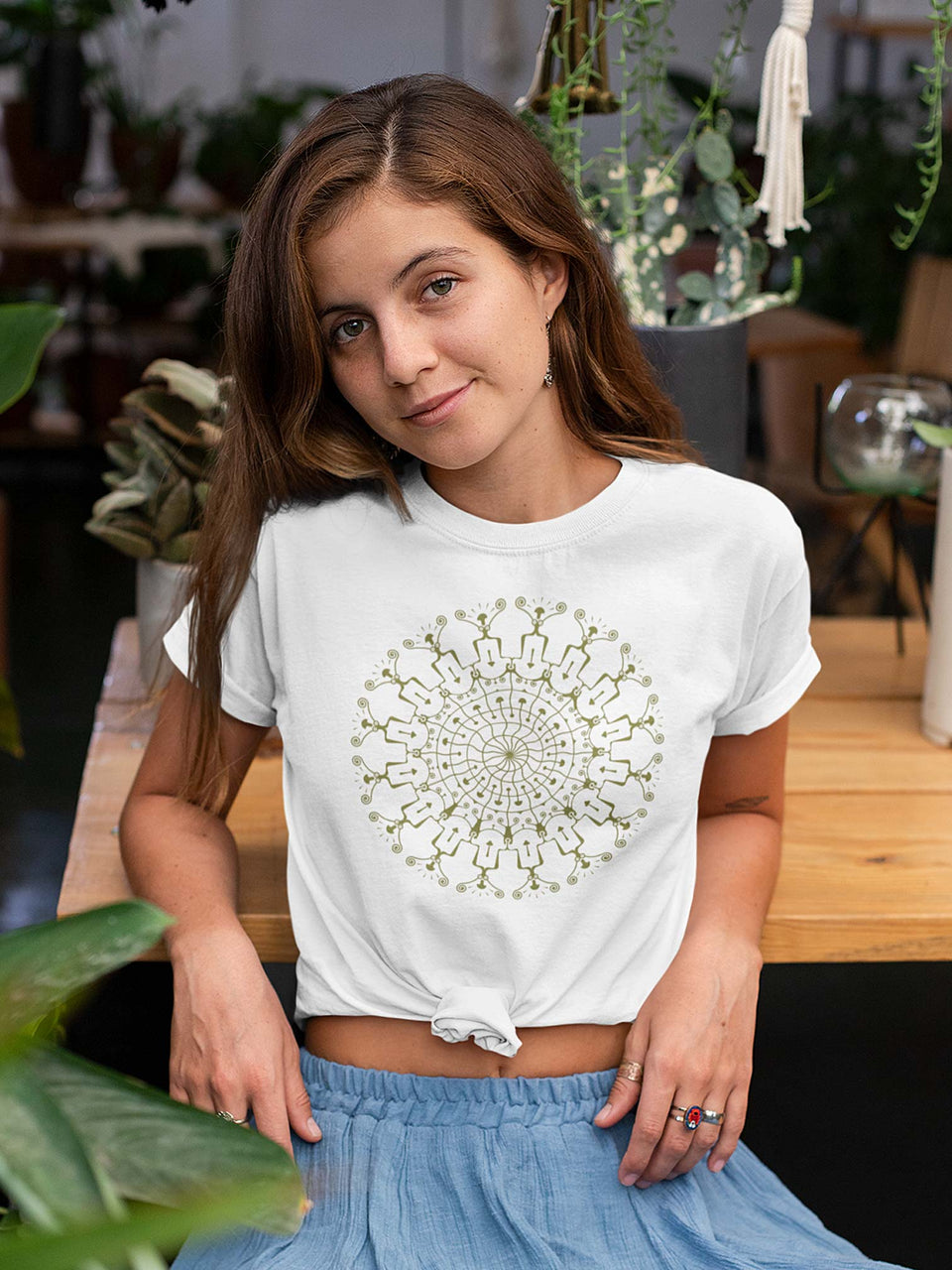 Shrooms Hora Glow Made to Order Women T-shirt - White