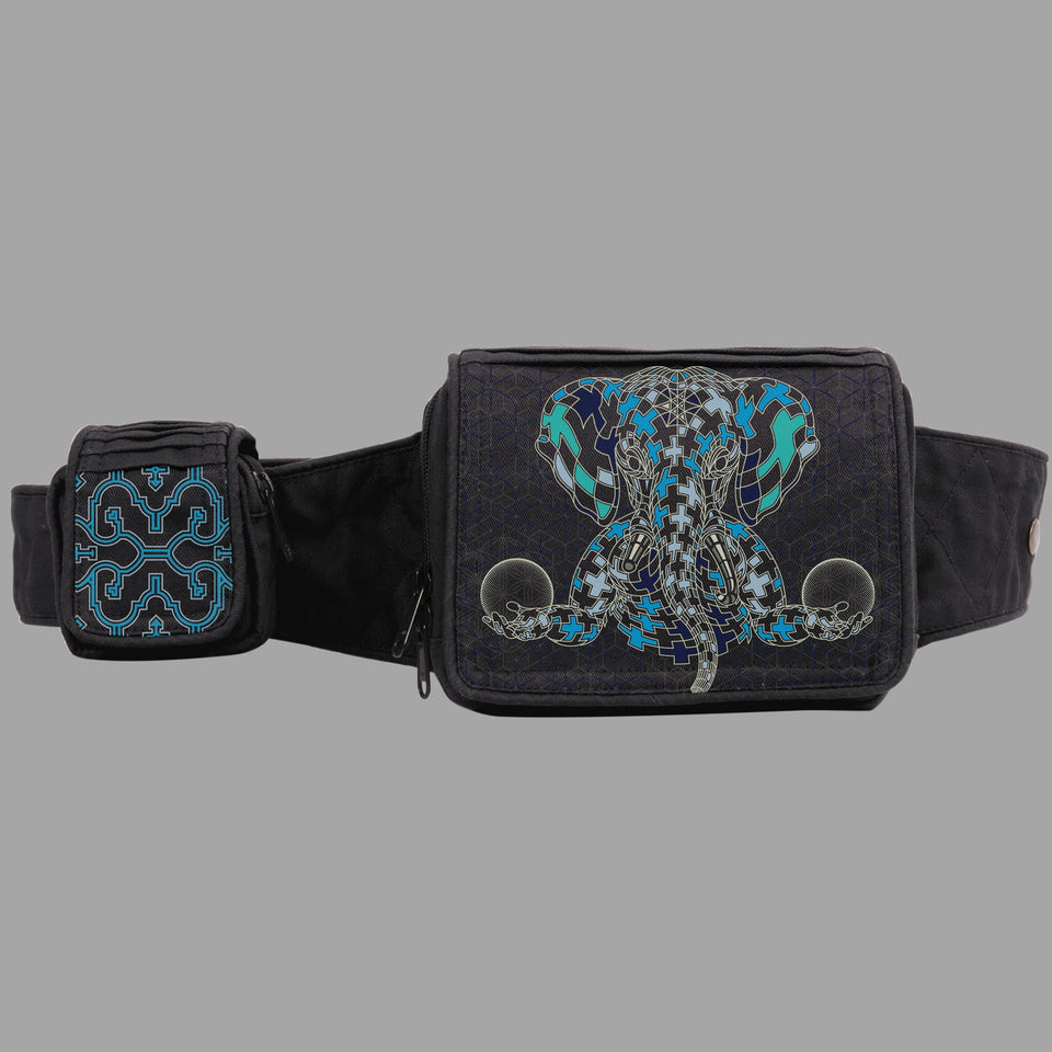 Ganescher Belt Bag blue green - symbolika