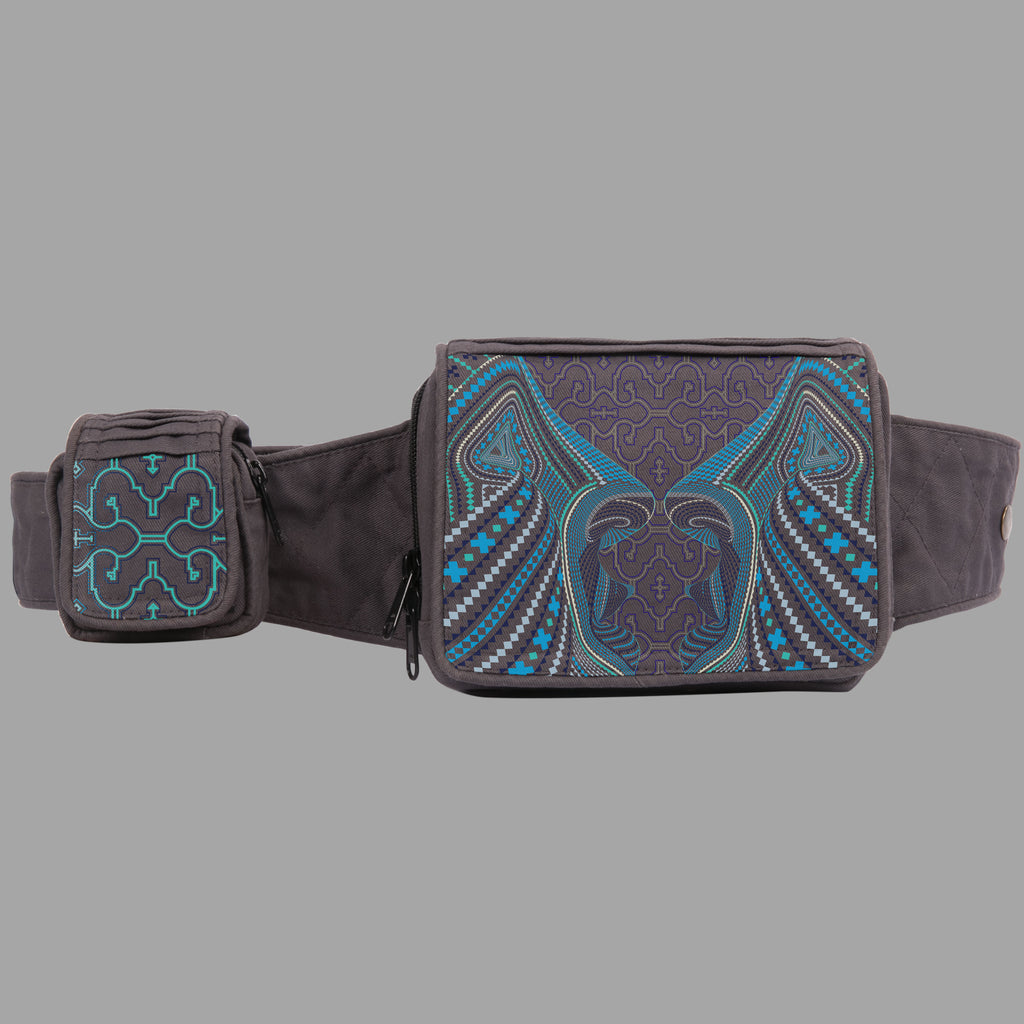 Icaruna Blue Green Belt Bag - symbolika