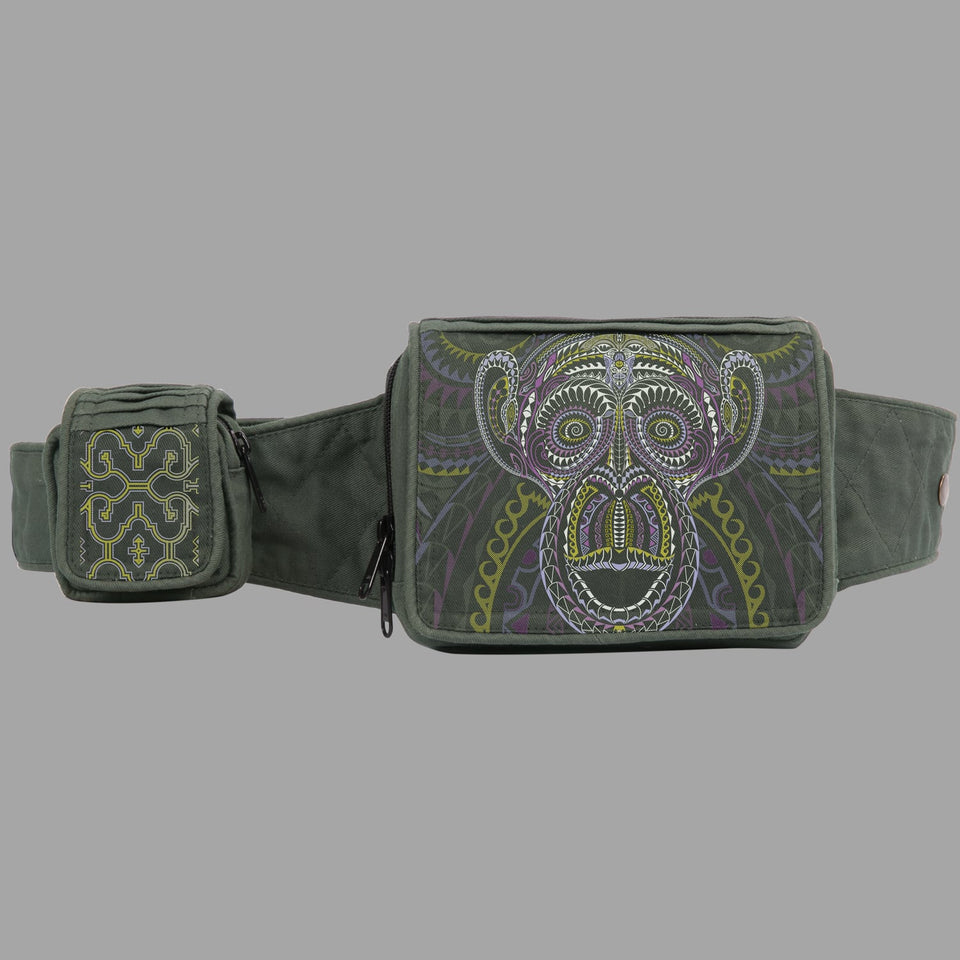 Tā Moko Monkey Belt Bag - symbolika