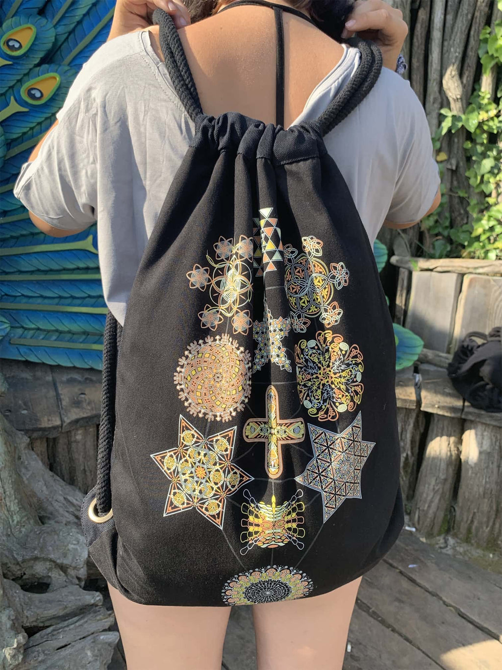 Symbol Tree Drawstring Bag - symbolika