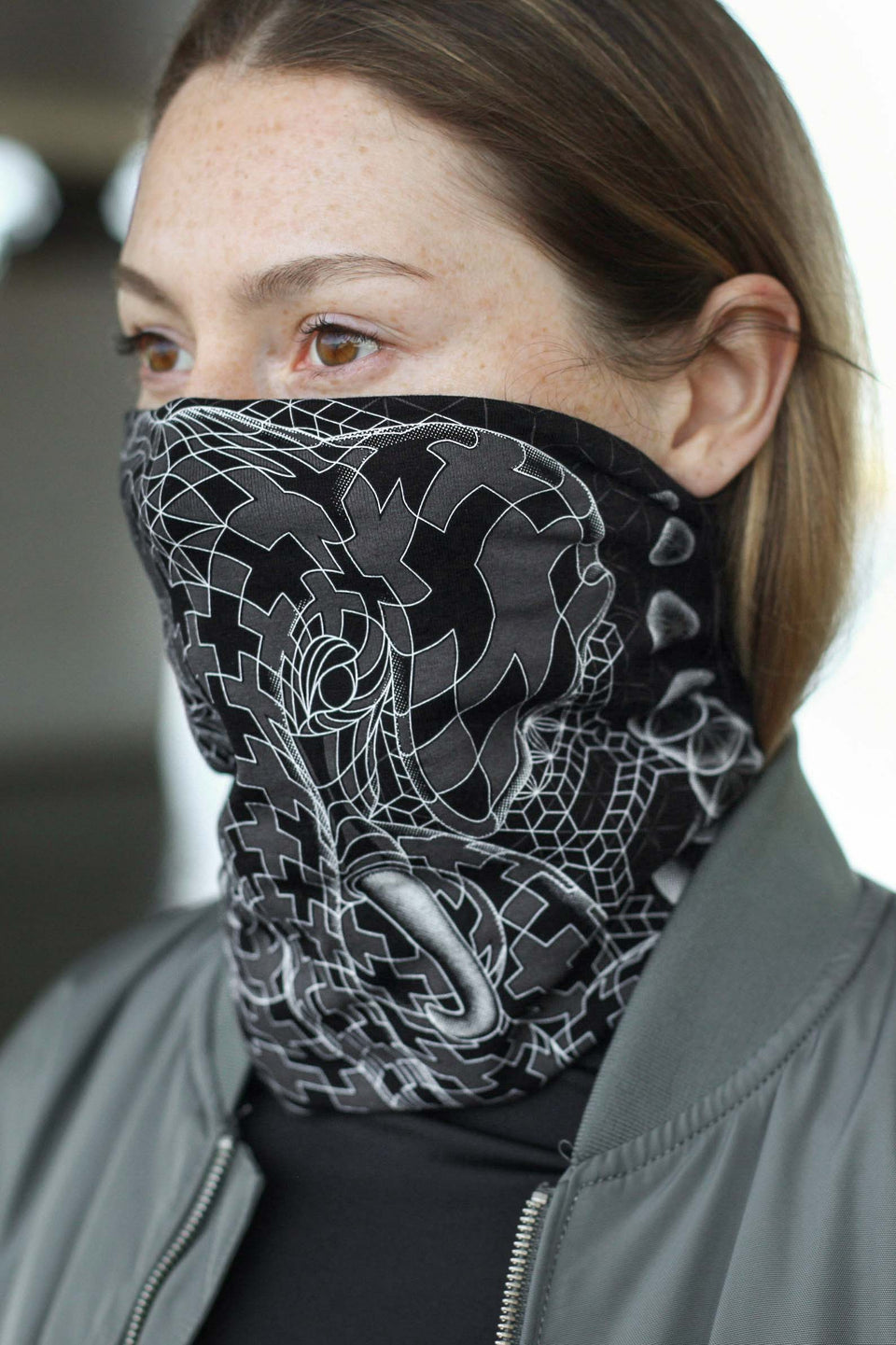 Ganescher Neck Face Mask - Black