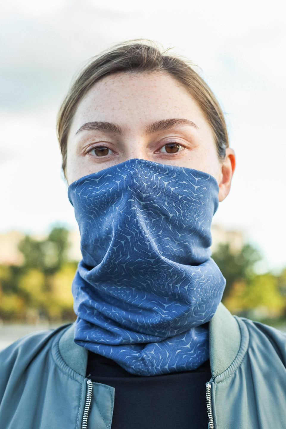 Molekula Mono Face Mask - Steel Blue