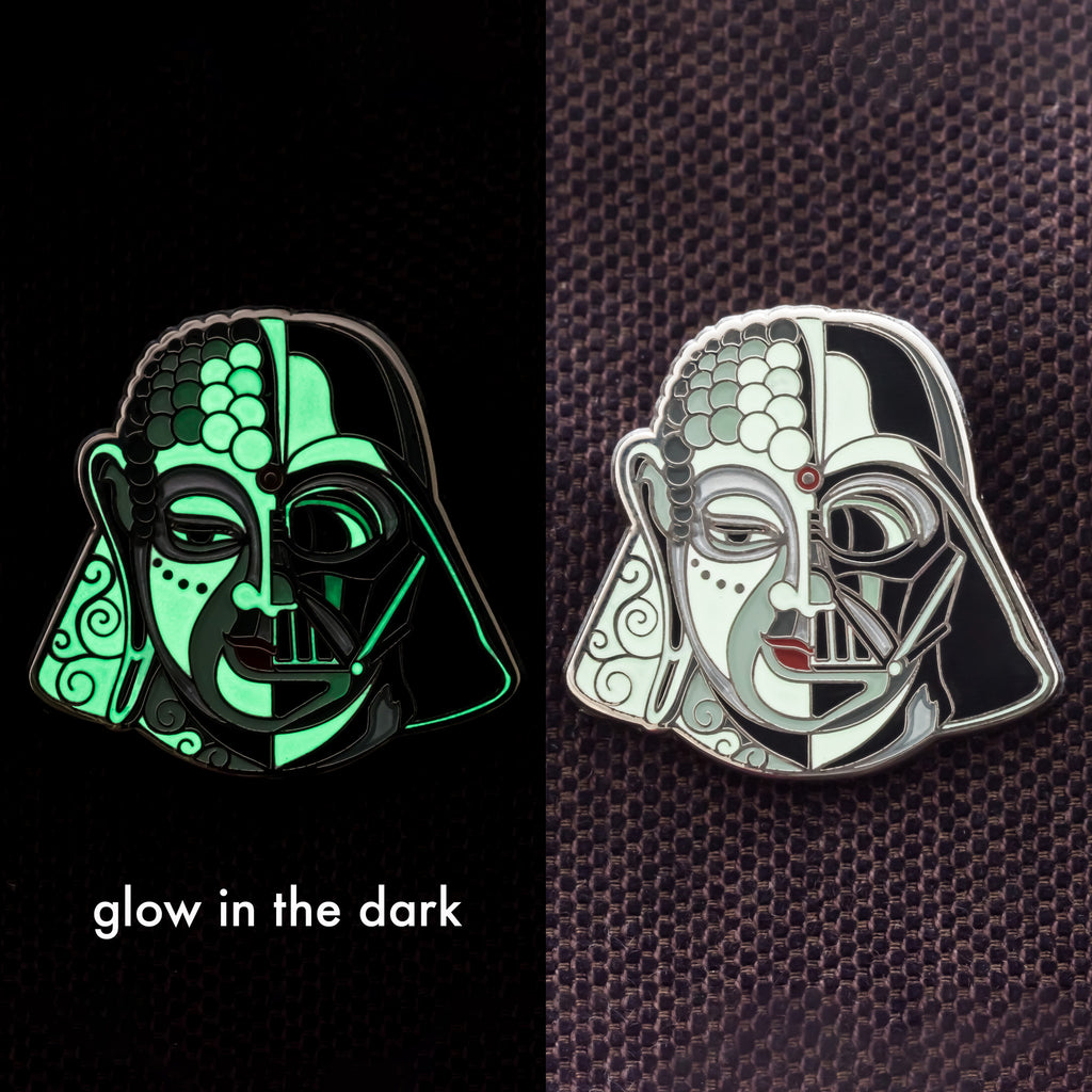 Darthbuddha Lapel Pin - symbolika