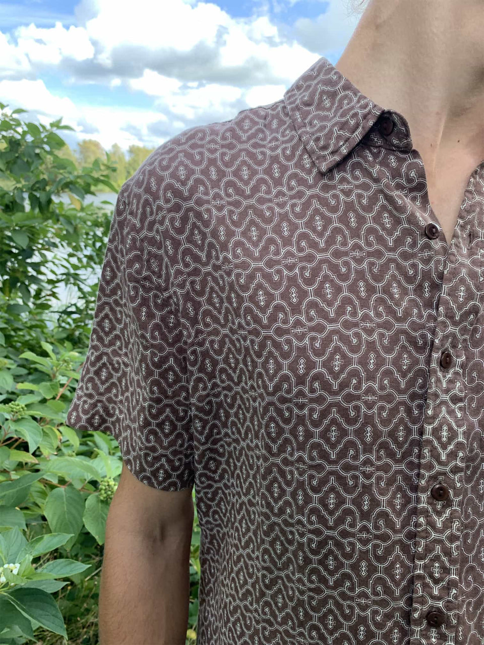 Shipibo Button Up Shirt - symbolika