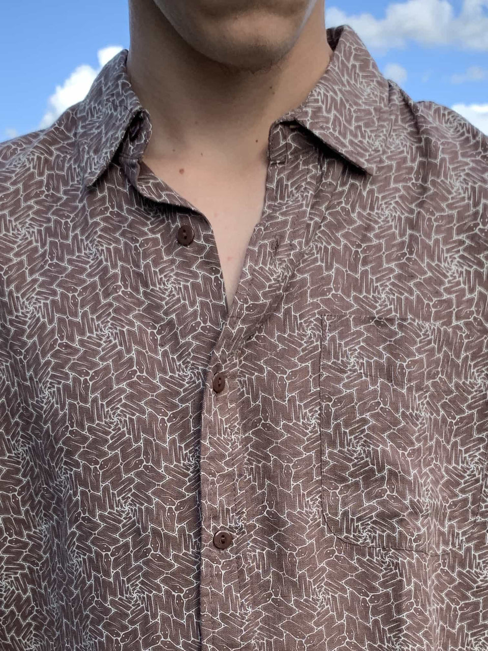 Snaxagon Button Up Shirt - symbolika