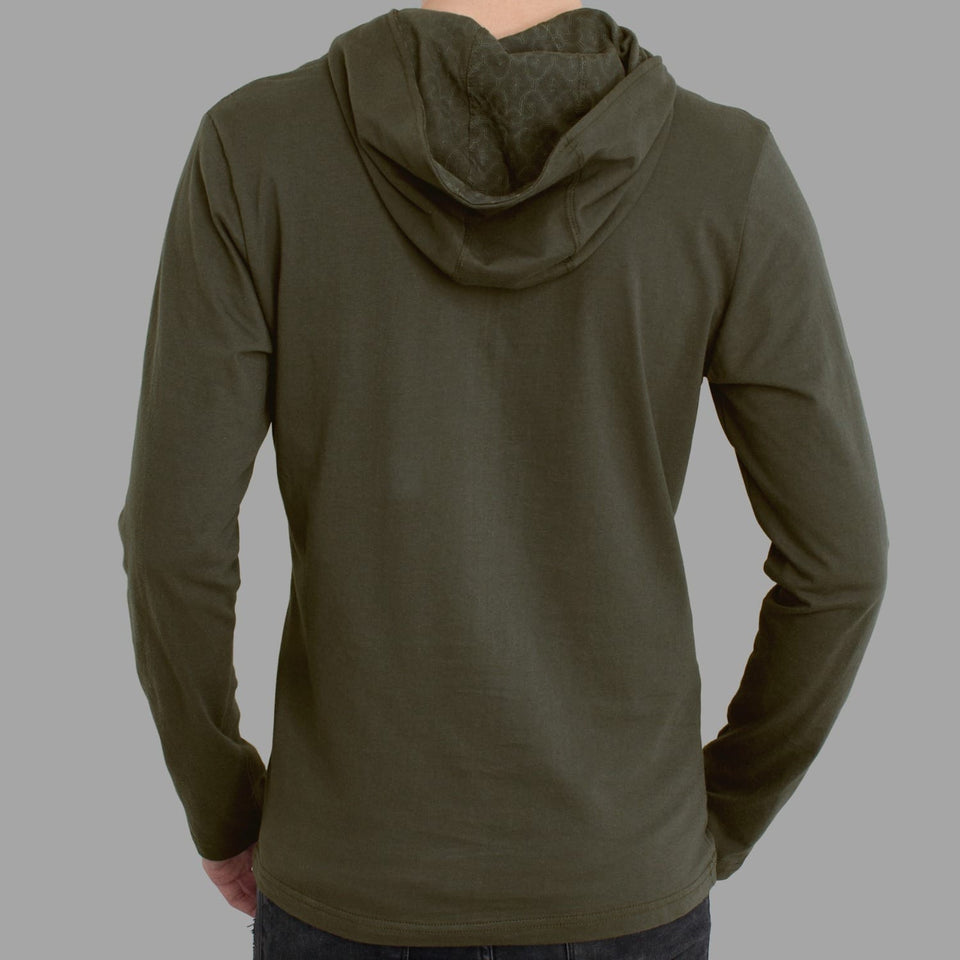 Second Cup Men Long Sleeve Hoodie - symbolika