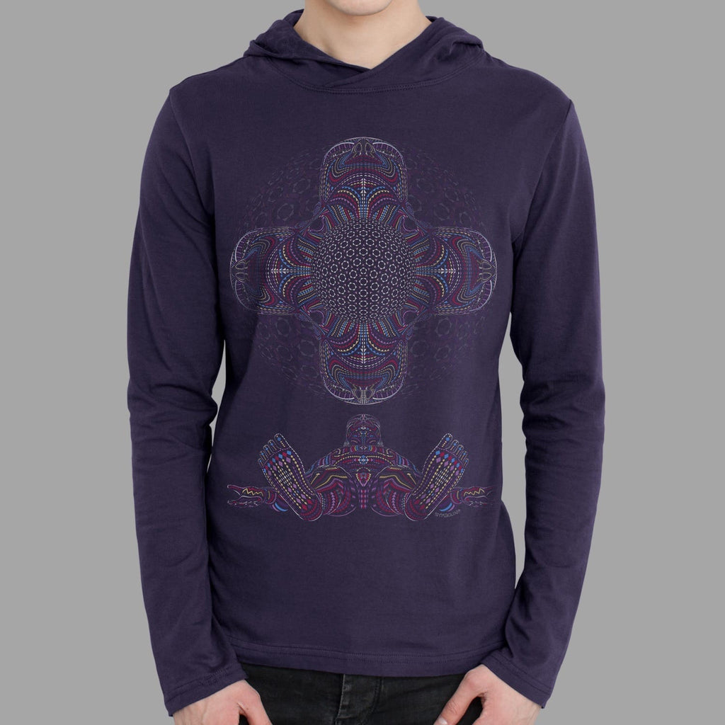 DMT HD Men Long Sleeve Hoodie - symbolika