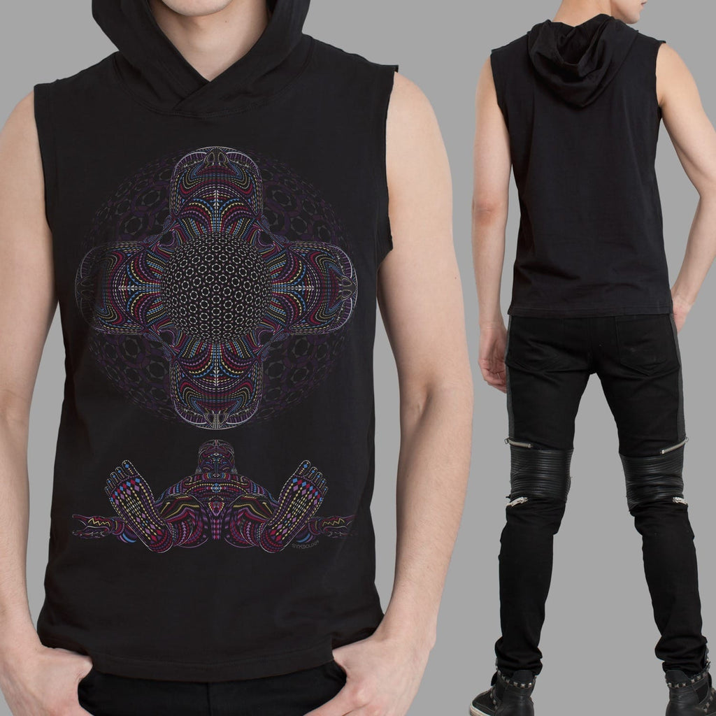 DMT HD Men Sleeveless Hoodie - symbolika