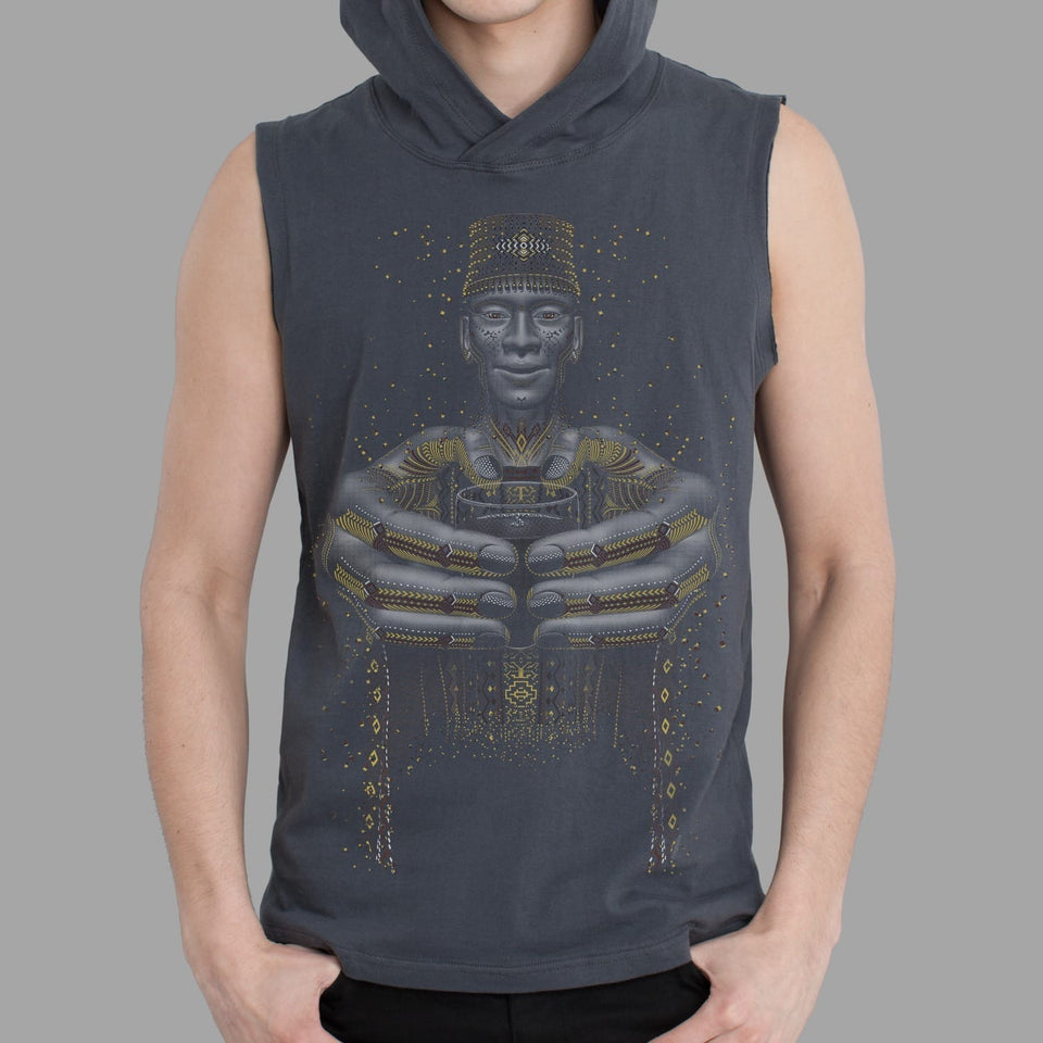 Second Cup Men Sleeveless Hoodie - symbolika