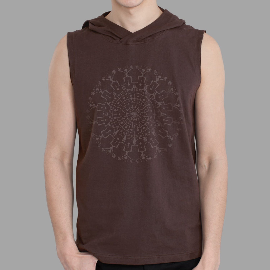 Shrooms Hora Men Sleeveless Hoodie - symbolika