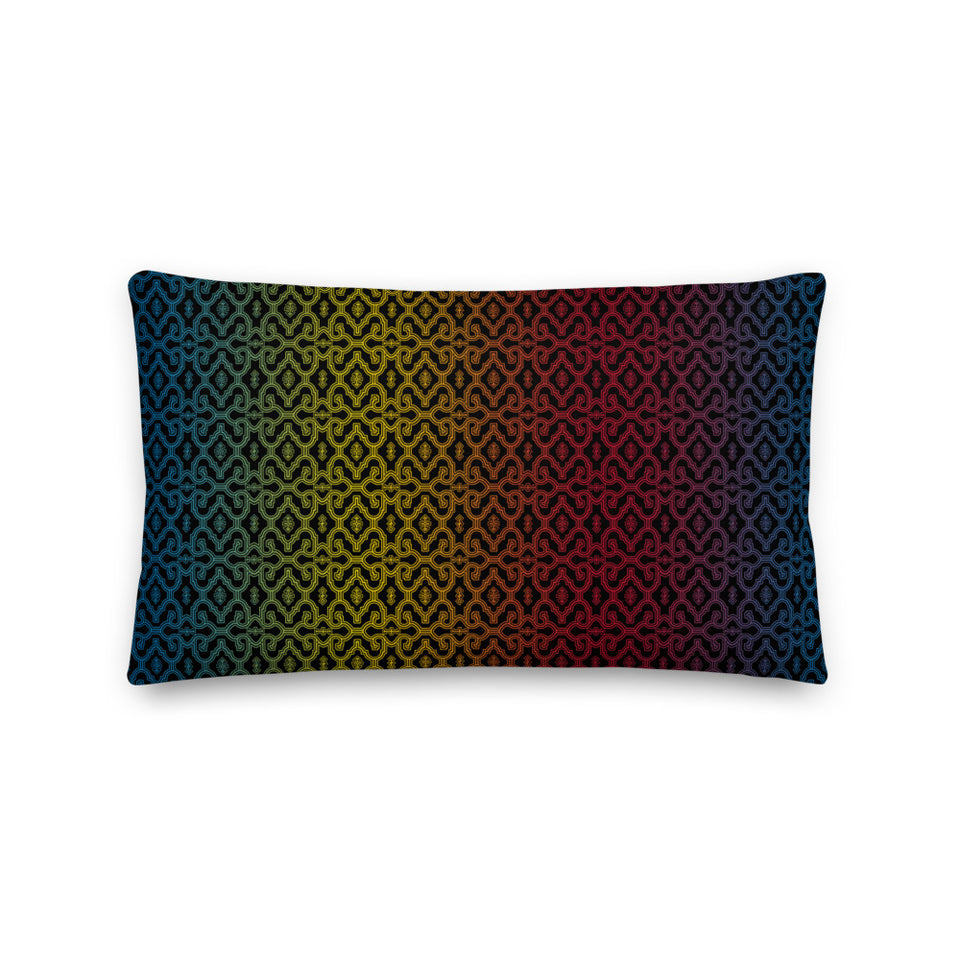 Shipibo Gradient - Rectangular Pillow