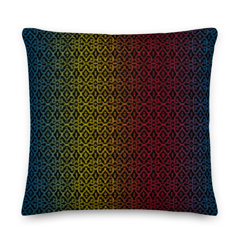 Shipibo Gradient - Square Pillow (L)