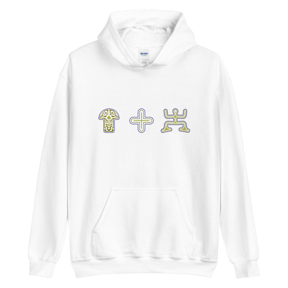 Mushroom Plus Party Men Hoodie - White -  Made to order