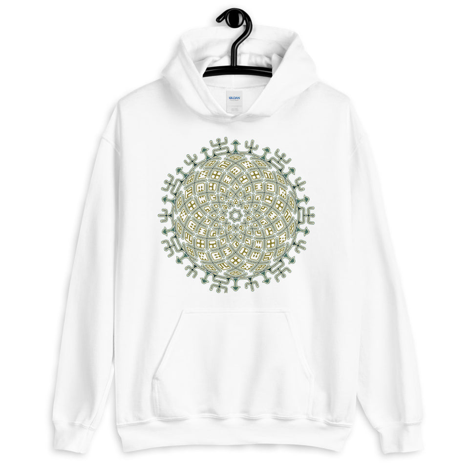 Vortex Cross Women Hoodie - White - Made to Order