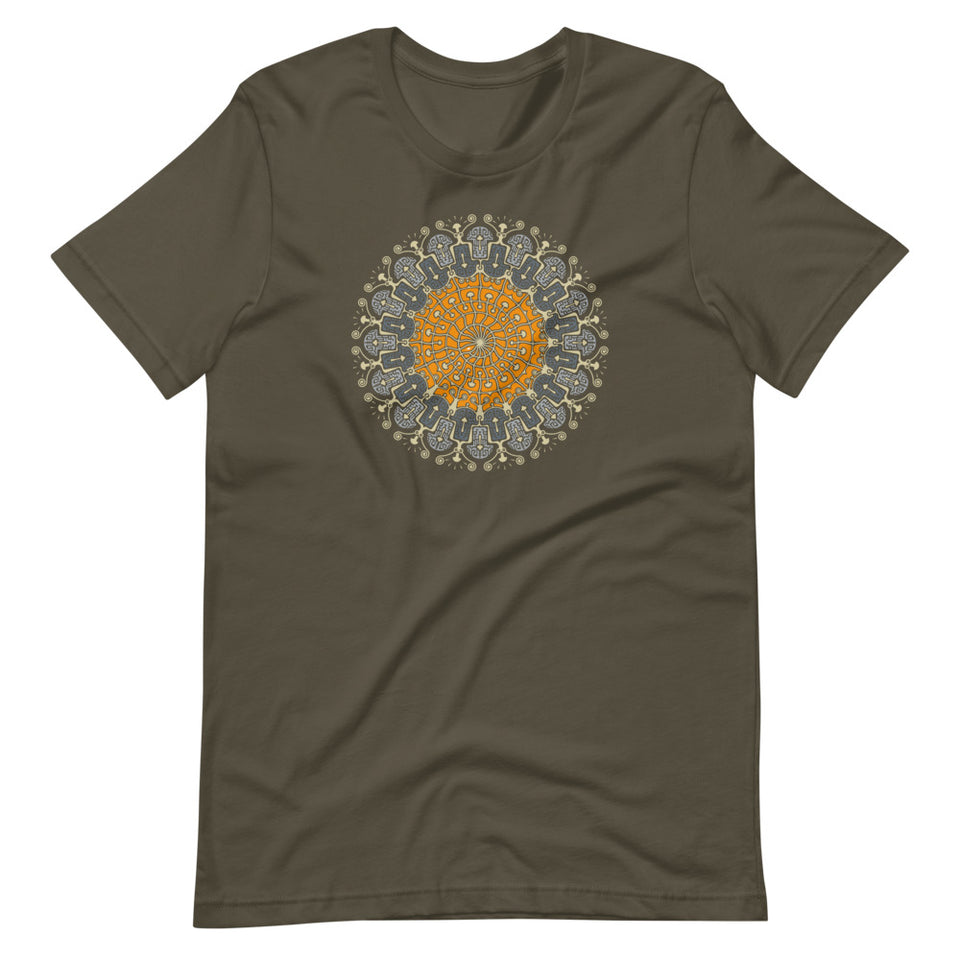 Shrooms Hora Color Made to Order Men T-shirt - Army