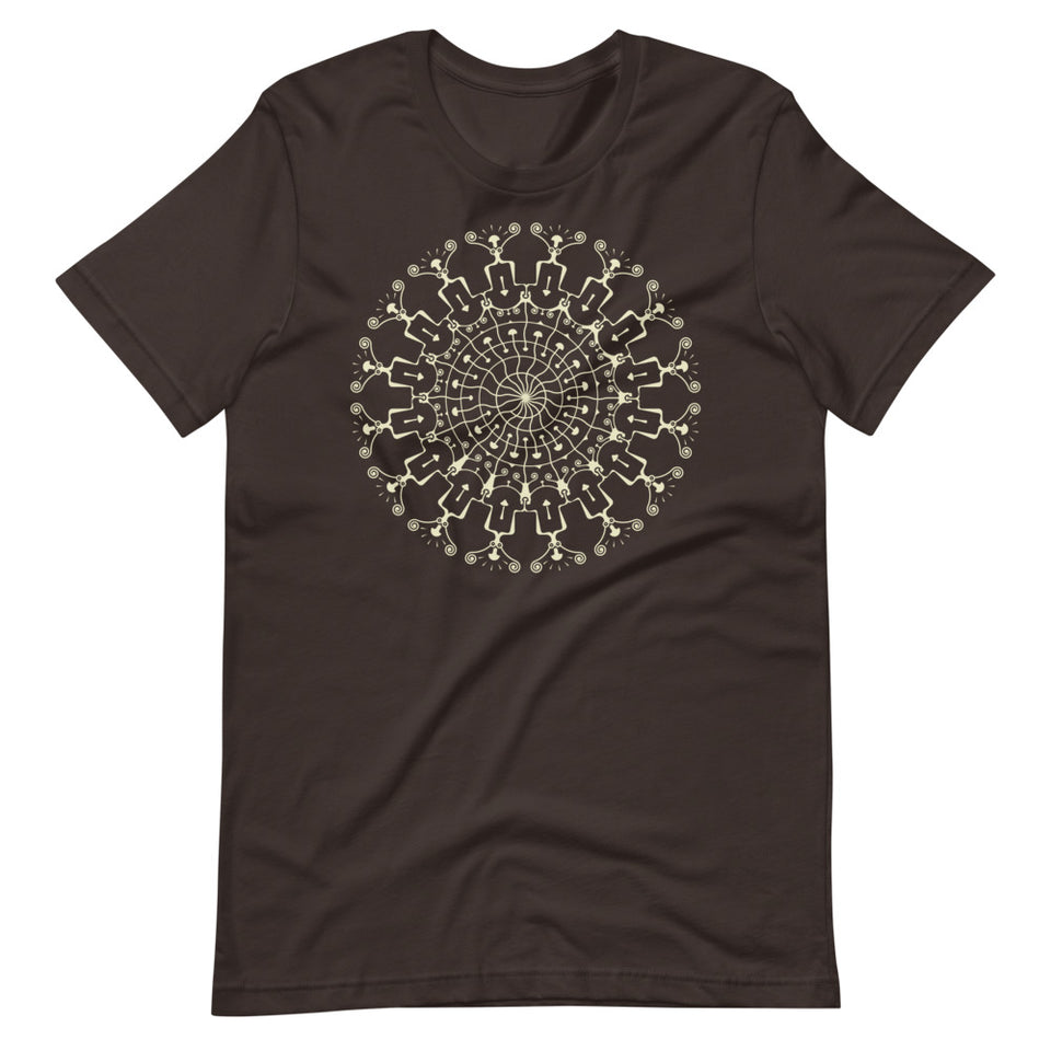 Shrooms Hora Glow Made to order Women T-shirt - Brown