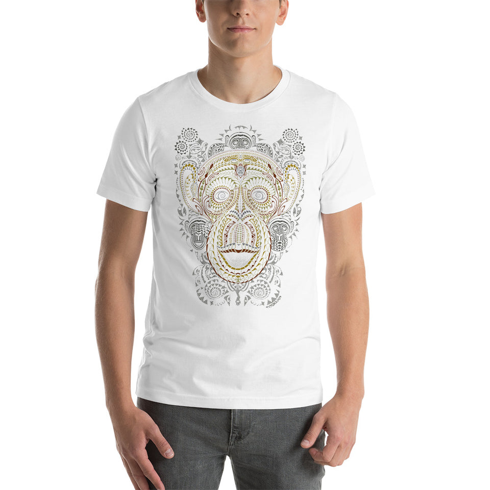 Ta Wise Monkey Men T-Shirt - Made to order - White