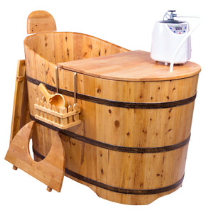 Durasage Standing Wooden Steam Sauna Bath