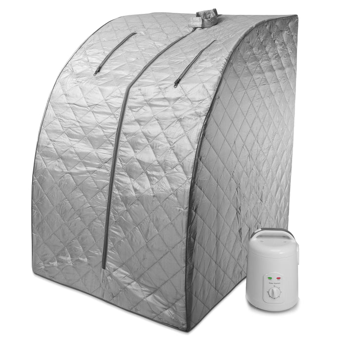 Portable Personal Therapeutic Spa Home Steam Sauna Weight Loss Slimming Detox (Gray Outline)