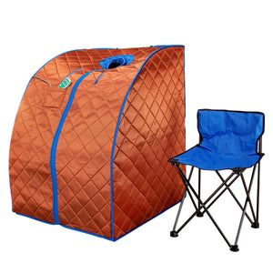 Large Portable Low EMF Negative Ion Indoor Sauna with Chair and Heated Footpad Included - Copper