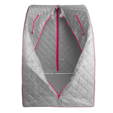Lightweight Personal Steam Sauna for Weight Loss, Detox & Relaxation, 60 Minute Timer - Pink