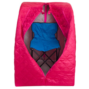 Personal Steam Sauna for Weight Loss, Detox & Relaxation at Home, Chair Included - Fuchsia