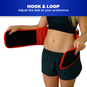 FAR Infrared Sauna Belt, Adjustable Time & Heat Levels Handheld Control for Slim Waist, Weight Loss, Detox by Therasage