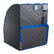 Personal Portable Infrared Sauna with Premium Chair, 30 Minute Timer, with Negative ION and Heated Footpad - Gray