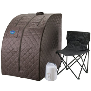 2-Person Carbon Infrared Sauna - Canadian Hemlock Wooden Sauna - 1700 Watts - Bluetooth, FM Radio & USB Input
