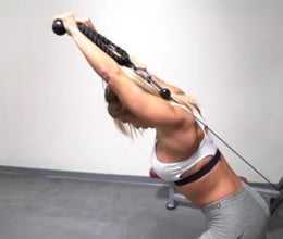 3B-Pulley Bent Over Triceps Extension With Rope