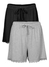 Pajama Shorts for Women Bamboo Sleep Shorts 2 Pack
