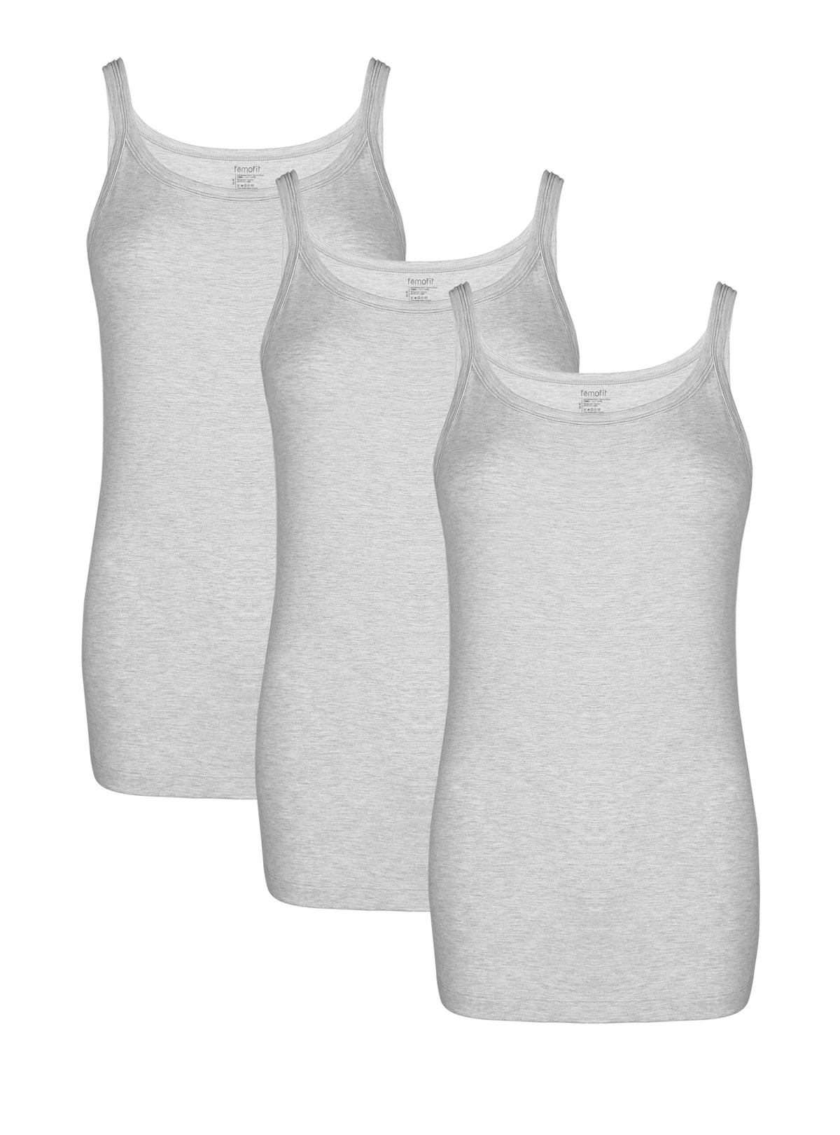 Femofit Women's Tank Top Bamboo Rayon Camisole Long Length Layering Tank Tops Camis 3 Pack