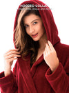 Robes For WomenRobe Hooded Coral Fleece