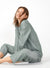 Pajama Set For Women Tencel Rayon Button-Down Loungewear